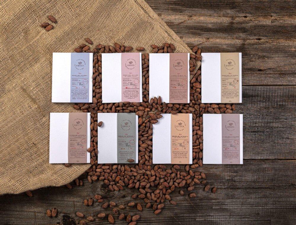zestaw 8 czekolad