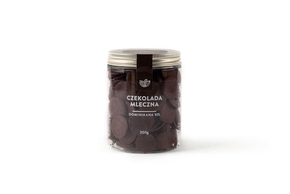 Dropsy czekoladowe czekolada mleczna DOMINIKANA 52%