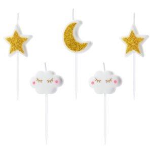 Świeczki urodzinowe MIX – gwiazdki i chmurki
