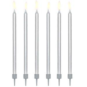 Świeczki urodzinowe – srebrne