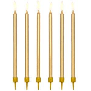 Świeczki urodzinowe – złote