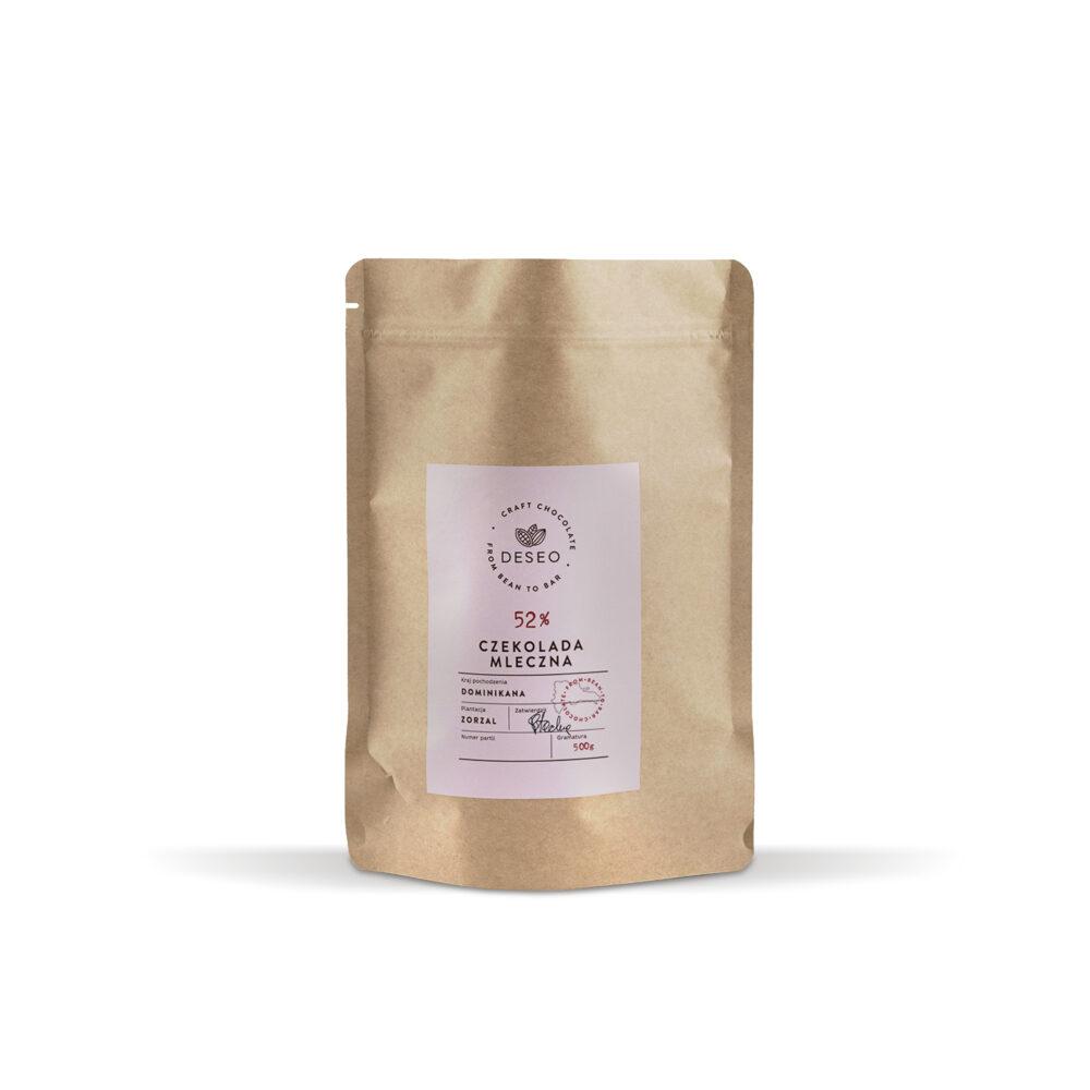 Dropsy czekoladowe Dominikana 52% 500 g
